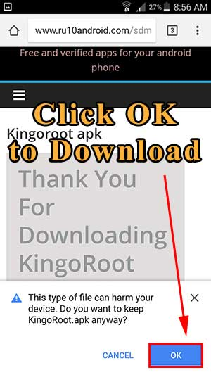 Kingoroot download block