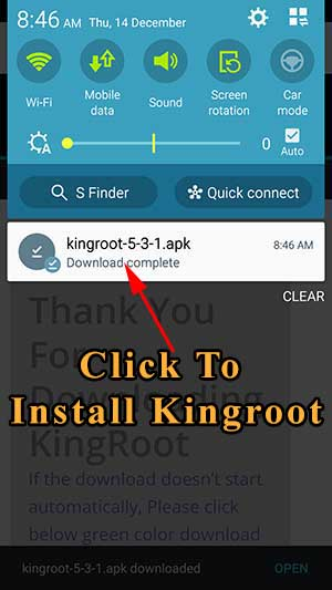 click to install kingroot