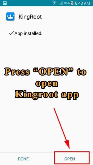 kingroot open app