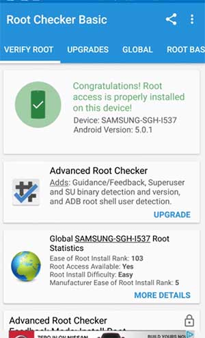 root checker root result