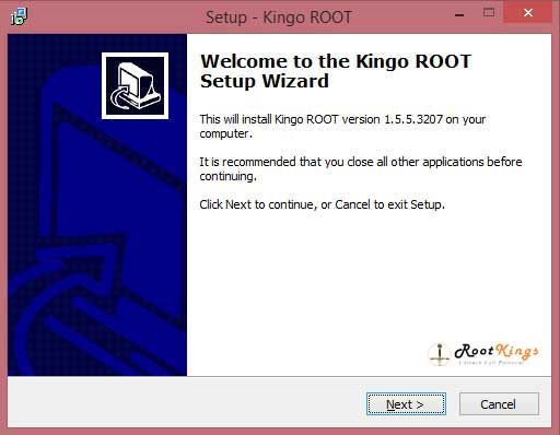 install kingoroot pc